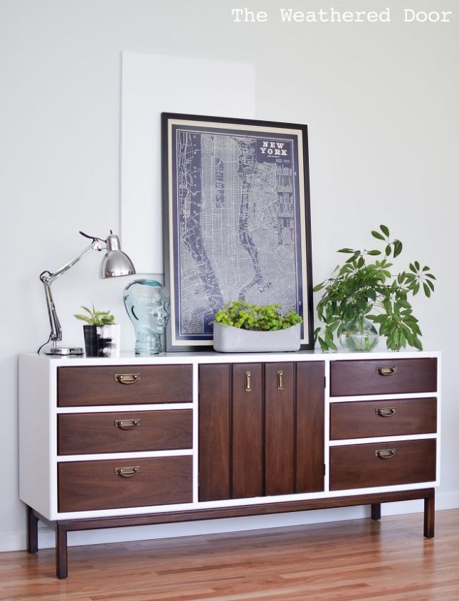 fresh and modern high gloss credenza with geometric drawers  painted  furniture  repurposing upcycling. Mid Century Modern High Gloss Credenza With Geometric Drawers