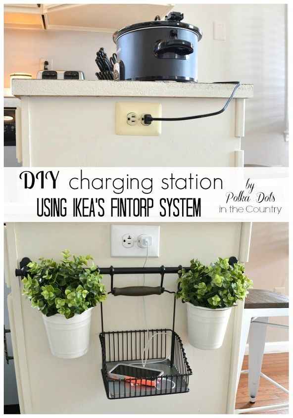 Diy Charging Station Using Ikea 39 S Fintorp System Hometalk
