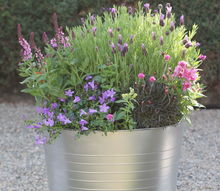 diy faux galvanized planter, container gardening, crafts, flowers, gardening
