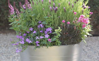 diy faux galvanized planter, container gardening, crafts, flowers, gardening
