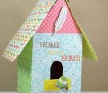 diy cardstock bird house, crafts, how to