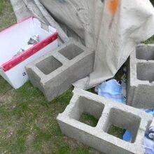 cinder block bench, outdoor furniture, outdoor living, patio, repurposing upcycling, Plain cinder blocks BORING