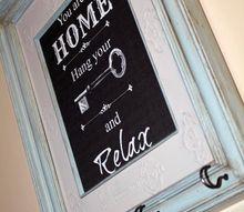frame turned key holder, chalk paint, crafts, organizing, repurposing upcycling, wall decor