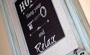 frame turned key holder, chalk paint, crafts, organizing, repurposing upcycling, wall decor