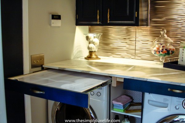 Glam Laundry Room Makeover For Under 300 Laundry Rooms Storage Ideas Wall Decor