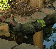 garden pond border redo, outdoor living, ponds water features