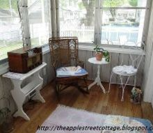 my cozy side porch part 1, outdoor living, porches