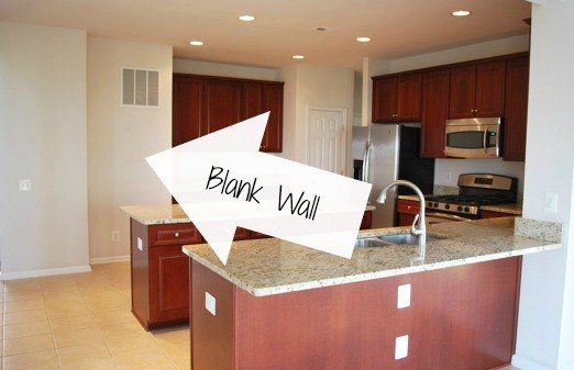 Diy stained open shelving for the kitchen hometalk for Blank kitchen wall ideas