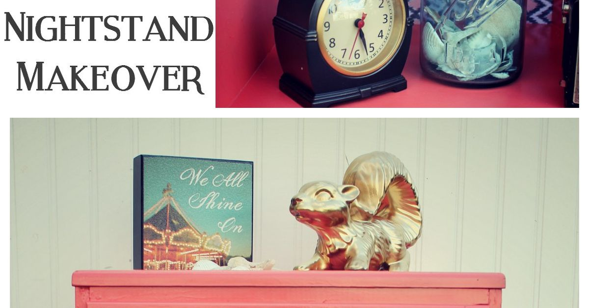 Painted And Decoupaged Nightstand Makeover Hometalk