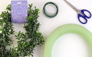 diy boxwood wreath for only 8 in 10 minutes, crafts, how to, wreaths