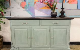 light blue painted buffet, chalk paint, painted furniture