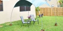 diy backyard sunshade, diy, gardening, how to, outdoor living