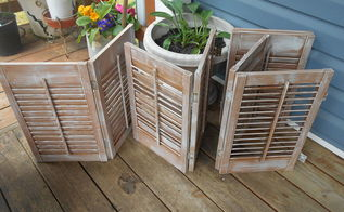 upcycled painted shutters for outdoor decor, curb appeal, porches, repurposing upcycling