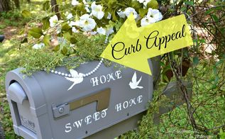 home sweet home decorated mailbox, crafts, curb appeal