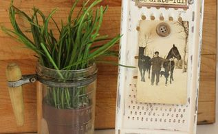 repurposed cheese grater to photo easel, chalk paint, crafts, how to, repurposing upcycling