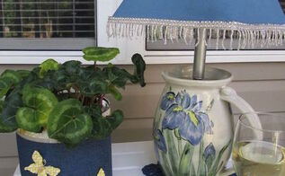 lighting lamp upcycle, crafts, how to, lighting, outdoor living, repurposing upcycling