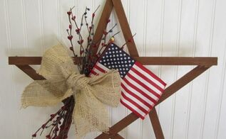 patriotic july 4th scrap wood star wreath alternative, crafts, patriotic decor ideas, seasonal holiday decor, wreaths
