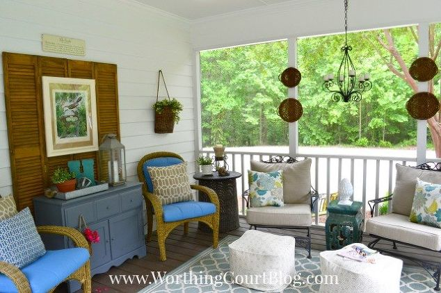 a southern screened porch decor update chalk paint outdoor furniture outdoor living - Porch Decor