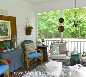 A Southern Screened Porch Decor Update Chalk Paint Outdoor Furniture  Outdoor Living   Porch Decor