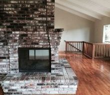 q brick fireplace update ideas, concrete masonry, fireplaces mantels
