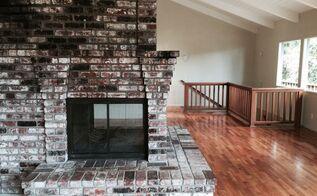 q brick fireplace update ideas, concrete masonry, fireplaces mantels