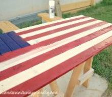diy wooden american flag, home decor, how to, outdoor living, painting, patriotic decor ideas, seasonal holiday decor, woodworking projects