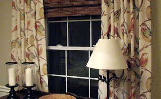 adding texture with bamboo shades, window treatments, windows