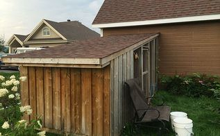 lean to chicken coop with nesting box urban hen coop building idea, homesteading, outdoor living, pets animals, slanted Roof wooden chicken coop