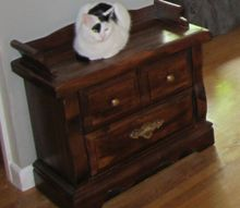 repurposed end table to hidden litter box, painted furniture, pets animals, repurposing upcycling