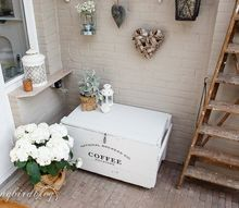 upcycled old crate to outdoor decor, outdoor living, painted furniture, porches, repurposing upcycling