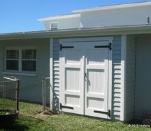 inset storage shed, outdoor living, storage ideas
