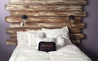 turned fence boards into a shabby chic headboard, bedroom ideas, fences, painted furniture, repurposing upcycling, shabby chic