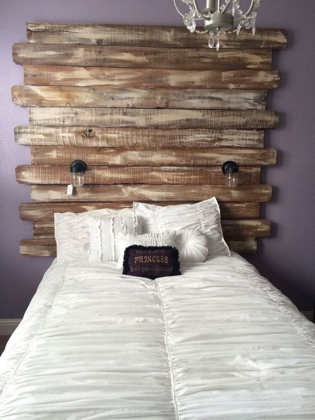 Turned Fence Boards Into A Shabby Chic Headboard Hometalk