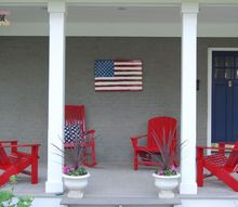patriotic porch makeover, outdoor living, patriotic decor ideas, porches, seasonal holiday decor