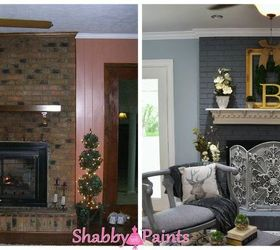 Transform Your Dated Brick Fireplace With One Coat of Paint Under ...