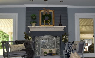 transform your dated brick fireplace with one coat of paint under 31, chalk paint, fireplaces mantels, painting, Shabby Paints Home Design