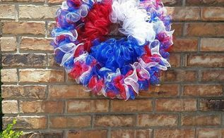 patriotic wreath hack, crafts, how to, patriotic decor ideas, repurposing upcycling, seasonal holiday decor, wreaths