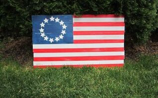 Rustic Pallet Wood Flag Hometalk