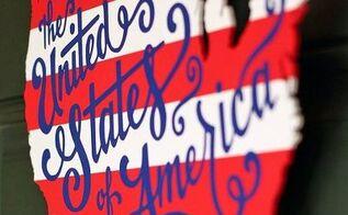 patriotic usa map wooden door hanger, crafts, patriotic decor ideas, seasonal holiday decor, wreaths