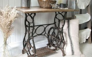 antique treadle sewing machine gets reclaimed farmhouse makeover, painted furniture, repurposing upcycling, rustic furniture