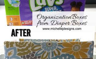 from diaper box to stylish storage, organizing, repurposing upcycling, storage ideas