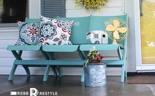 a painted bench, curb appeal, outdoor furniture, painted furniture