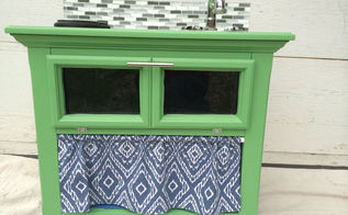old nightstand turned diy play kitchen, painted furniture, repurposing upcycling