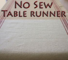 Easy No Sew Table Runner, Crafts, How To, Reupholster