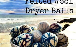 diy felted wool dryer balls, crafts, laundry rooms