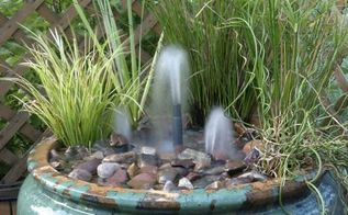 q instructions for container water garden, gardening, ponds water features, Saw this photo when reading the above article unfortunately no instructions