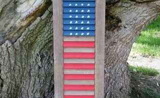 easy shutter flag, crafts, patriotic decor ideas, repurposing upcycling, seasonal holiday decor