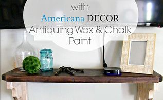 mantle makeover with americana decor antiquing wax and chalk paint, chalk paint, fireplaces mantels, painting