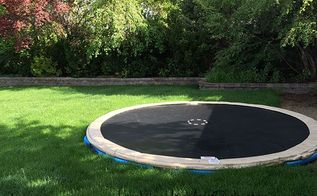 how to install an inground trampoline, how to, outdoor living