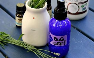 diy all natural coconut oil bug spray using essential oils, how to, pest control